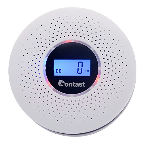 Combination Photoelectric Smoke/Carbon Monoxide Detector for Home, Battery Operated Travel Portable Fire CO Alarm with Sound Warning and Digital Display