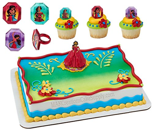 Price comparison product image Elena of Avalor Licensed Cake Topper by Decopac & 24 Cupcake Ring Combo