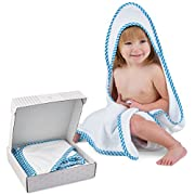 Super Soft Baby and Kids Large Bamboo Hooded Towel - Premium Gift Set