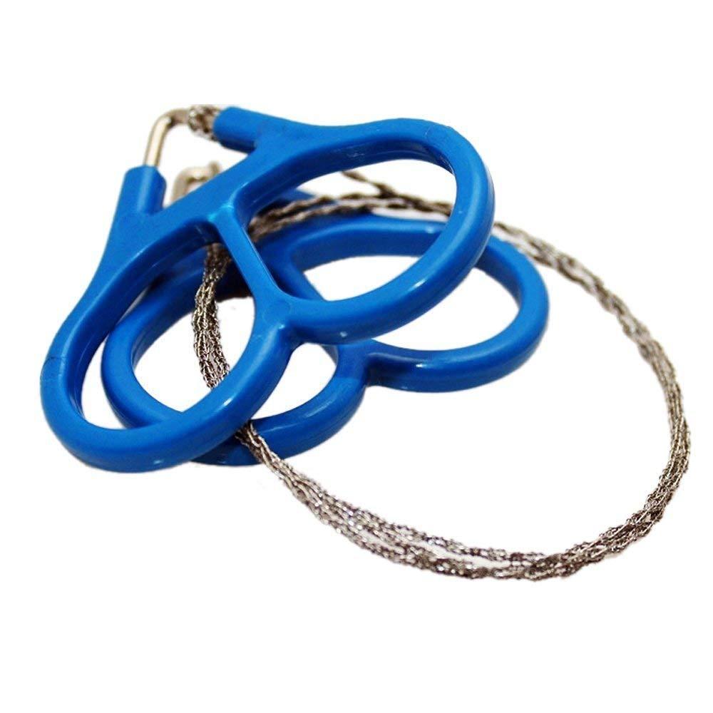 LANYUER Mini alambre de acero inoxidable sierra de emergencia camping caza supervivencia herramienta cadena