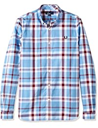 Fred Perry mens Bold Check Shirt