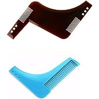 Pochoir peigne à barbe multistyle Modèle pour taille et entretien des contours de barbe À utiliser avec rasoir ou tondeuse barbe.