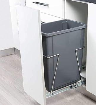 Cubo De Basura Extraíble Con Guías Y Marco Lavable Extracción Total Amazon Es Bricolaje Y Herramientas