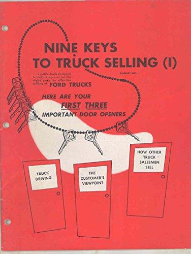 1952 Ford Truck Salesman's Brochure Mixer Dump F1 Pickup F3 Parcel
