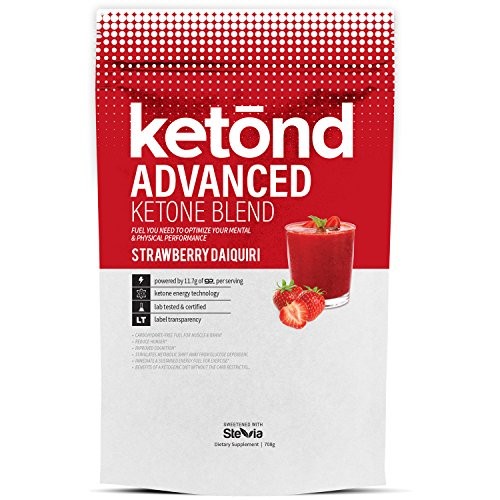 Ketond Advanced Ketone Supplement - 11.7g of goBHB per Serving (30 Servings) - #1 Rated BHB (Beta-HydroxyButyrate) Supplement for Weight Loss, Increased Energy, Focus & Fat Loss (Strawberry Daiquiri)