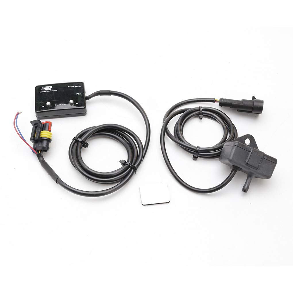 Lorsoul Auto Universale Digitale Turbo Boost Gauge Blu Display a LED 14 ~ Pressione 40psi Meter IP-TBM-01