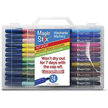 Magic Stix 24pk - Washable markers that won't dry out!