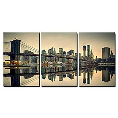 That You Will Love, Charming Artisanship, Brooklyn Bridge and Manhattan at Dusk New York City x3 Panels