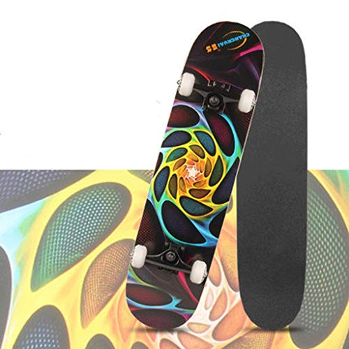 Vortex Skateboard Wheels - Short Board Beginner Four Wheel Skateboard Adult Teen Children Boys and Girls Street Bilateral Tilt Board Skateboard (Color : Vortex)