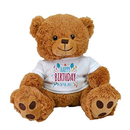 Customized Birthday Limited Edition! Cute Teddy Bear Plush Toys with Personalized Names Best for Birthdays by CustomizedbyBilgin (Happy Birthday Tan Bear)