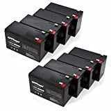 """ExpertPower 12v 9ah Sealed Lead Acid Battery with F2 Terminals (.250"""") / 8 Pack"""
