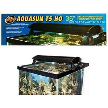 Amazon Com Zoo Med Aquasun T5 Ho Double Light Linear