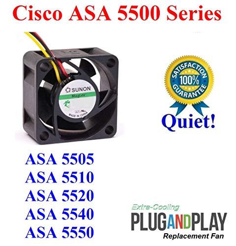 Extra-Cooling Plug-and-Play Quiet Version Sunon Replacement Fan for Cisco ASA 5500 Series ASA 5505 ASA 5510 ASA 5520 ASA 5540 ASA 5550