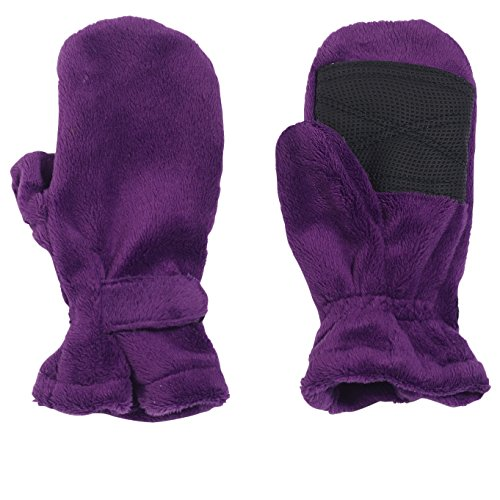 Cozy Cub Little Girl Minky Fleece Winter Mittens, Baby and Toddler Ages 1-4