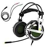 Gaming Headset, Sades SA-928 Stereo Lightweight PC Gaming Headphones 3.5mm Jack with Mic for Laptop PC/MAC With Free Headset Splitter Adapter Review