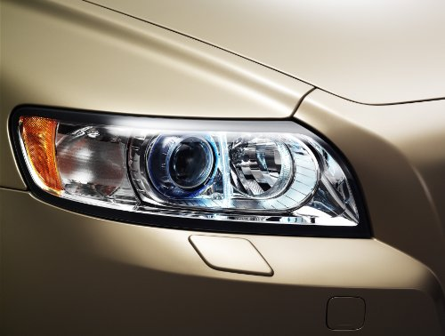 volvo-s40-t5-2008-car-art-poster-print-on-10-mil-archival-satin-paper-brown-front-headlight-closeup-