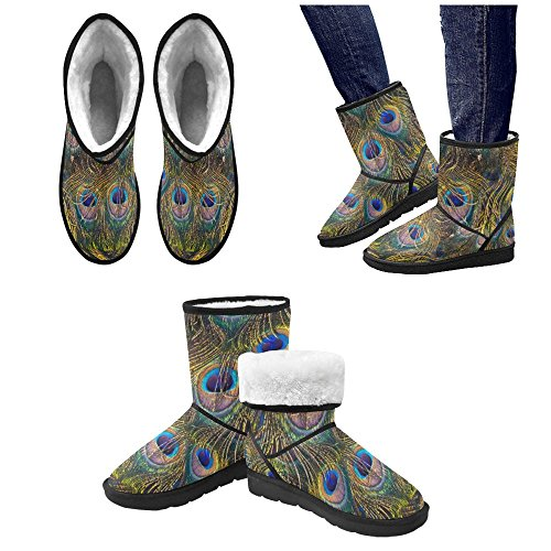 D-Story American Flag and Eagle Eye Unisex Snow Boots Casual Womens Mens Boots Multicoloured19 SMqz4Zt