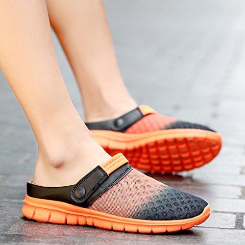Large Maille Casual Fit Sandale Pantoufles Sabots Femmes Orange Tongs Chaussures Respirant Hommes Caoutchouc Plage Dame Couple En 0SwPSq1F