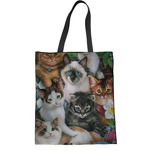 HUGS IDEA Y-H1093Z22 - Bolso de tela para mujer, Kitten2 (Marrón) - Y-H10932Z22 Kitten3