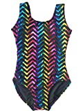 Chevron Foil Tank Leotard (Youth S (6-7), Chevron Foil)