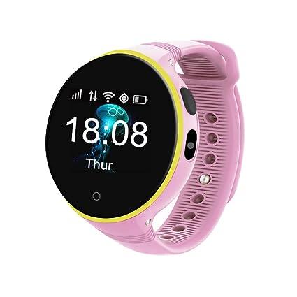 HUIGE Smart Watch,Bluetooth Smartwatch Touch Screen Wrist Watch with Camera/SIM Card Slot,Waterproof Phone Smart Watch Sports Fitness Tracker,Pink