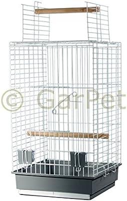 Pájaro jaula loro Papagayo libre Asiento abierto pájaro jaula Soporte opcional