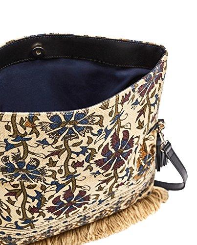 Zara Donna Pochette tessuto nappe 8364/204