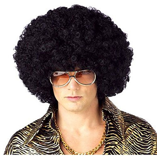 California Costume Men's Jumbo Afro Wig, Black, (Jumbo Afro Adult Wig)