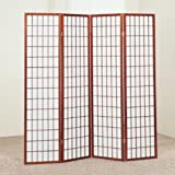 Brand New 18''x 71''H Cherry Finish 4-Panel Wood Room Divider / Screen