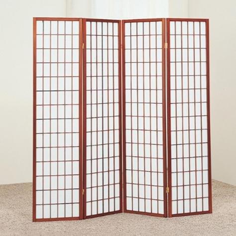 Brand New 18''x 71''H Cherry Finish 4-Panel Wood Room Divider / Screen