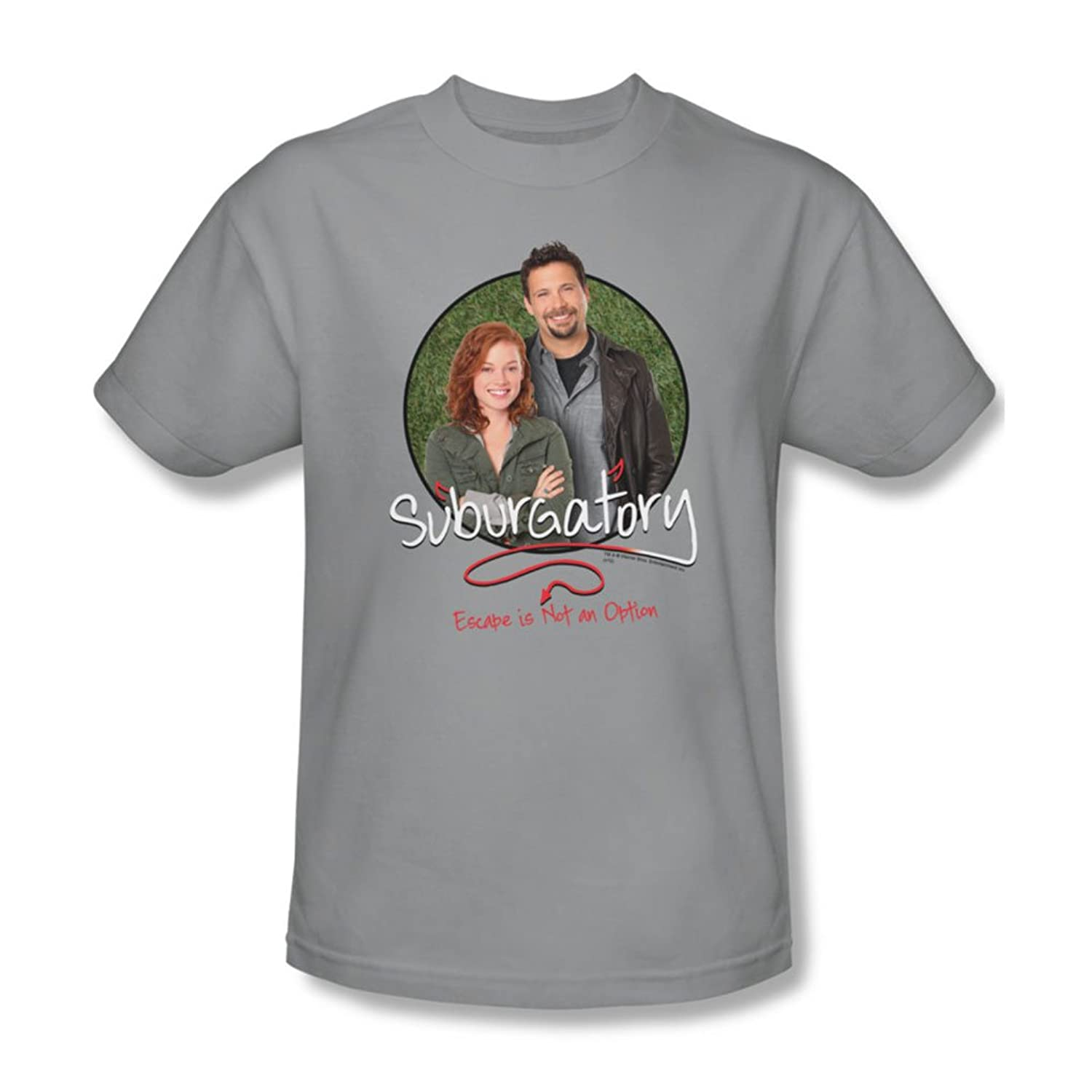 Suburgatory - Mens Father & Daughter T-Shirt In Silver