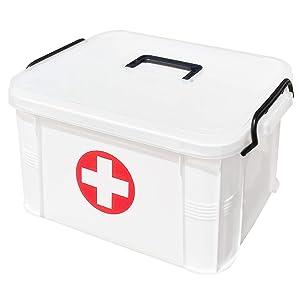 ProductA 救急箱 薬箱 3サイズ 収納ボックス 大容量 大型(L)