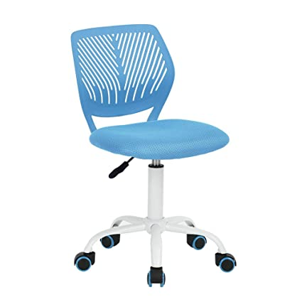 Incredible Greenforest Desk Chair For Kids Teens Office Chair With Low Back Armless Adjustable Swivel Chair Blue Machost Co Dining Chair Design Ideas Machostcouk