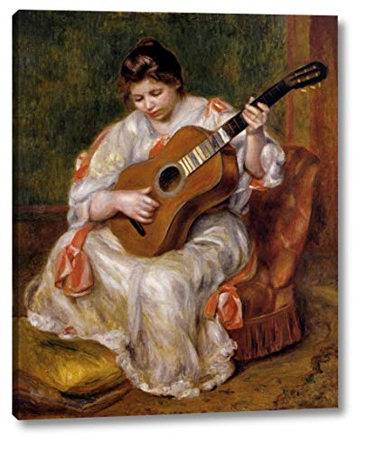 (Woman Playing The Guitar by Pierre Auguste Renoir - 18