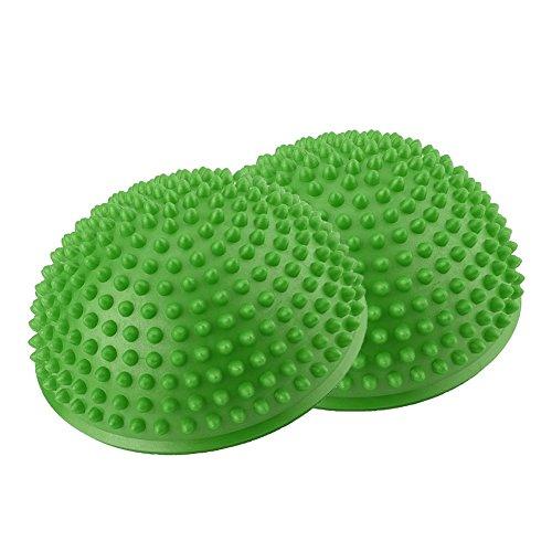 2Pcs/Lot Ball Massage Foot Sports Balance Hedgehog Half Ball Pimples Pilates Ball...