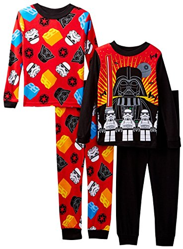 Star Wars Lego Darth Vader Storm Tropper Boys 4 Piece Pajama Set, Sizes 4-8