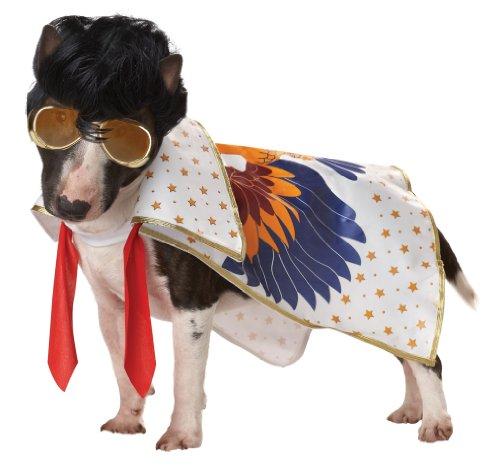 [Pup-A-Razzi Rock N Roll King Dog Costume, X-Small, Multicolor] (Elvis Costumes Cape)