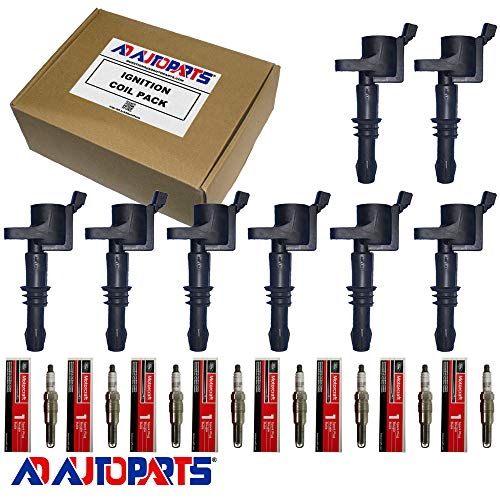 Price comparison product image AD Auto Parts Ignition Coil Pack - 8 7805-1154 Ignition Coils + 8 SP547 Spark Plugs For 2005-2008 Ford & Mercury