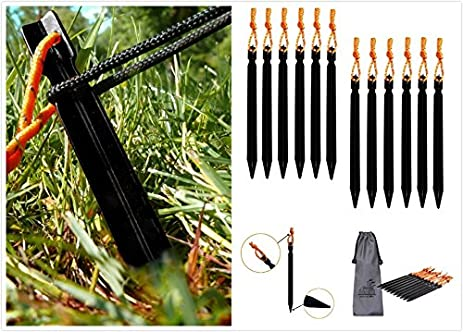 (Pack of 12) Aluminum Tent Stakes Pegs Mini-Factory Outdoor C&ing Tent  sc 1 st  Amazon.com & Amazon.com : (Pack of 12) Aluminum Tent Stakes Pegs Mini-Factory ...