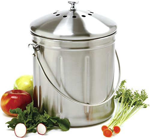 Norpro 1.5 Gallon Stainless Steel Compost Keeper (Composter Keeper Stainless Steel)
