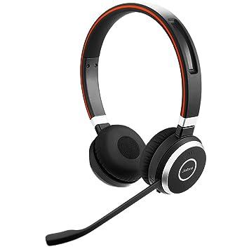 Jabra Evolve 65 UC Stereo - Auriculares con micrófono (biaural, diadema, Cisco Avaya