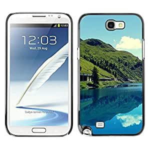 Hot Style Cell Phone PC Hard Case Cover // M00102152 reflections marmoleda mountain nature // Samsung Galaxy Note 2 II N7100