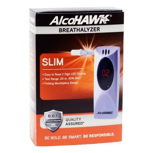 Alcohawk Slim Breathalyzer - AlcoHAWK Slim Digital Breathalyzer Alcohol Detector by AlcoHawk