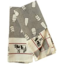 Dairy Farm Cotton Dish Towel, Set of 2
