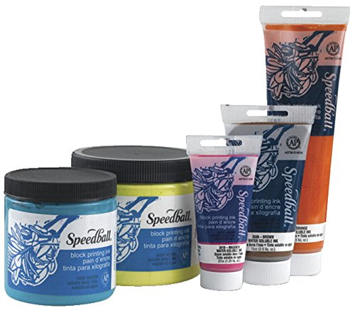 Speedball Water Soluble Block Printing Ink, Platinum White, 5 Ounces