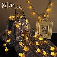 7M 50 LED Guirnaldas Luces Exterior Solar, TASMOR
