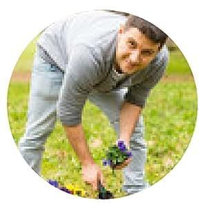 alfombrilla de ratón Gardener plantar flores - ronda - 20cm
