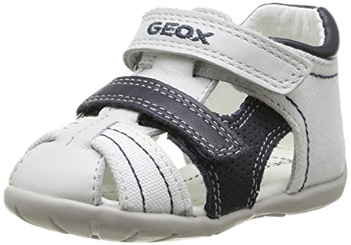 Geox B Kaytan G, Sandalias para Bebés Blanco (White / Navy C0899)