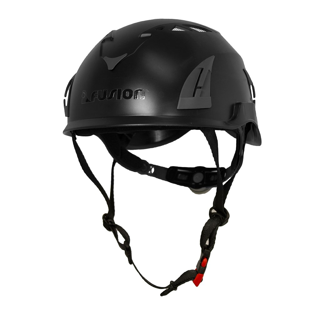 Fusion Climb Pro Backyard Zip Line Kit Harness Lanyard Trolley Carabiner Helmet Vest Glove Bundle FK-A-HLTCHVG-09