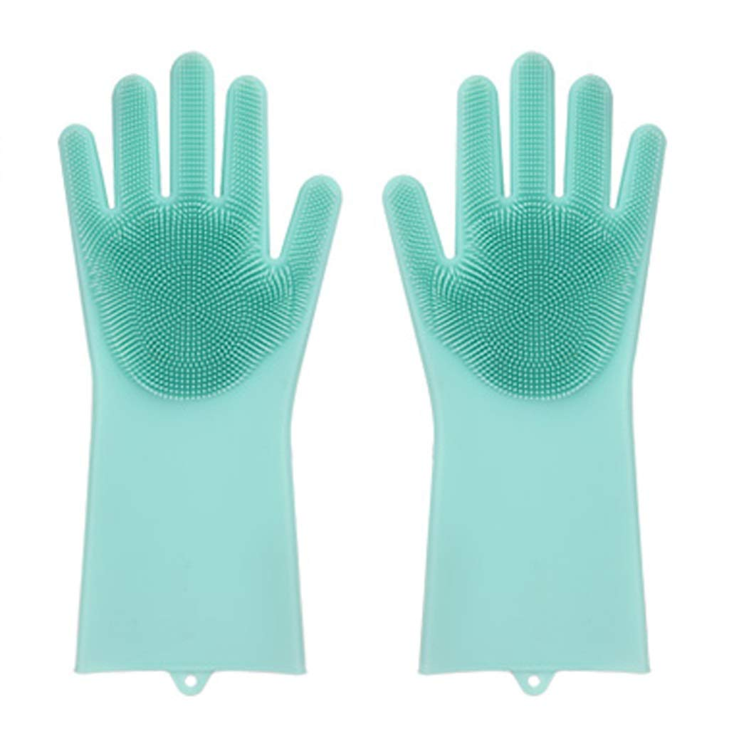 YANGBM Multi-Functional Gloves/Silicone Thickening Durable Laundry Anti-scalding High Temperature Household Cleaning (Four Colors Optional) Gardening Gloves (Color : C)